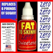 FAT TO SKINNY ZERO SWEETENER LIQUID SPLENDA